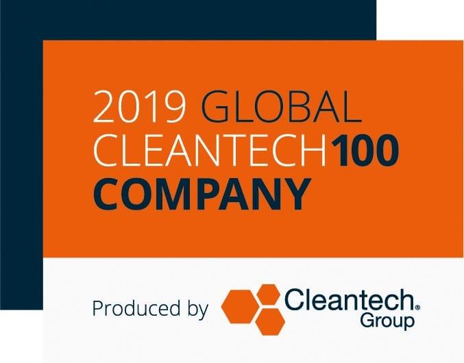 2019 Clean Tech 100 badge Moixa | Home Energy Storage | Smart Energy Management