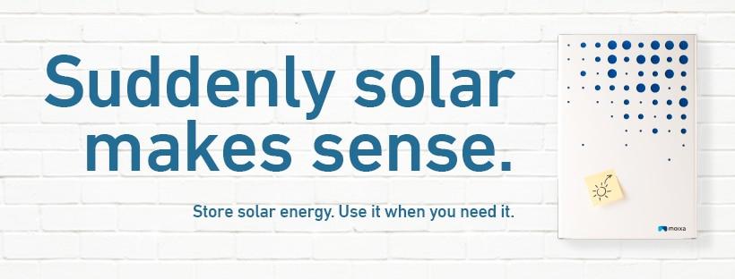 Solar battery storage.