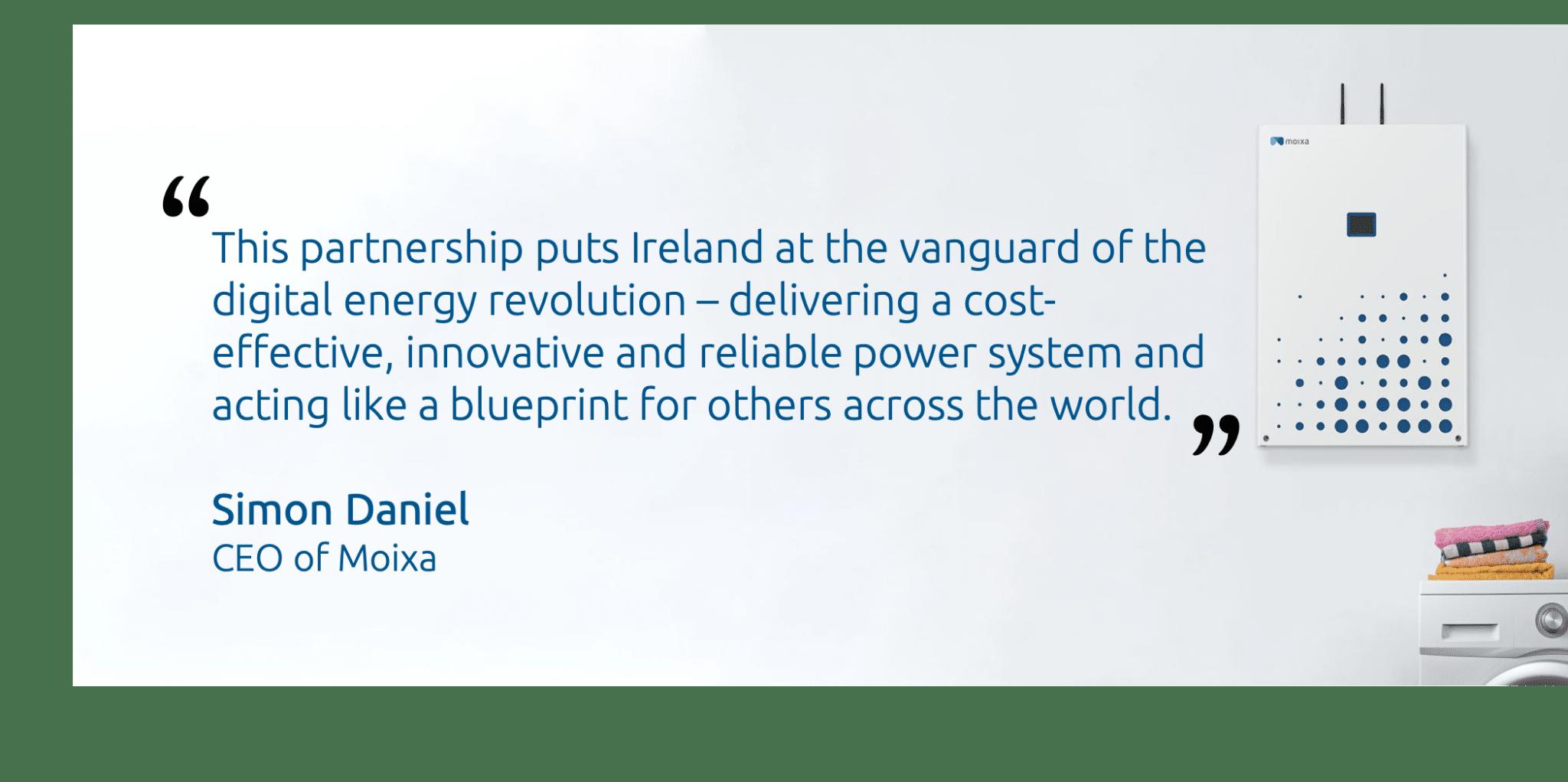Simon Daniel quote about Energia Partnership