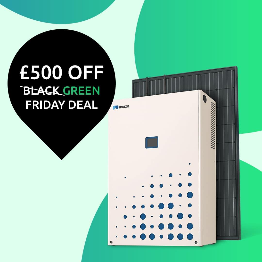 0485 Black Friday Green Static Ad 1080 V5 Moixa | Home Energy Storage | Smart Energy Management