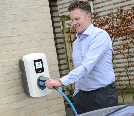 Eve Single Pro line Pole Socket Auto 0 Moixa | Home Energy Storage | Smart Energy Management