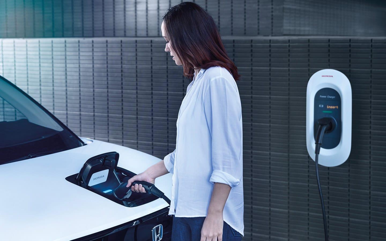 Honda E charging.