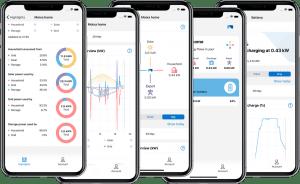 Moixa app on phones